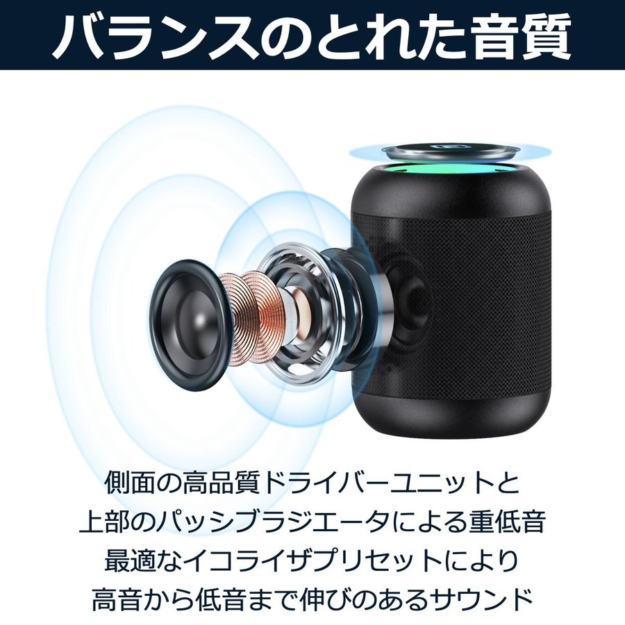 Bluetooth スピーカー 小型 高音質 重低音 防水 防塵 SDカード お風呂 LED ワイヤレス コンパクト ハンズフリー スマホ iPhone Android 40s CW1LC|forties|07