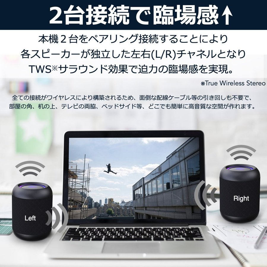 Bluetooth スピーカー 小型 高音質 重低音 防水 防塵 SDカード お風呂 LED ワイヤレス コンパクト ハンズフリー スマホ iPhone Android 40s CW1LC|forties|08