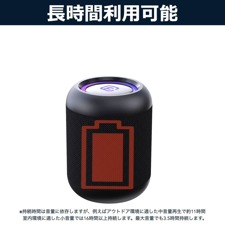 Bluetooth スピーカー 小型 高音質 重低音 防水 防塵 SDカード お風呂 LED ワイヤレス コンパクト ハンズフリー スマホ iPhone Android 40s CW1LC|forties|09