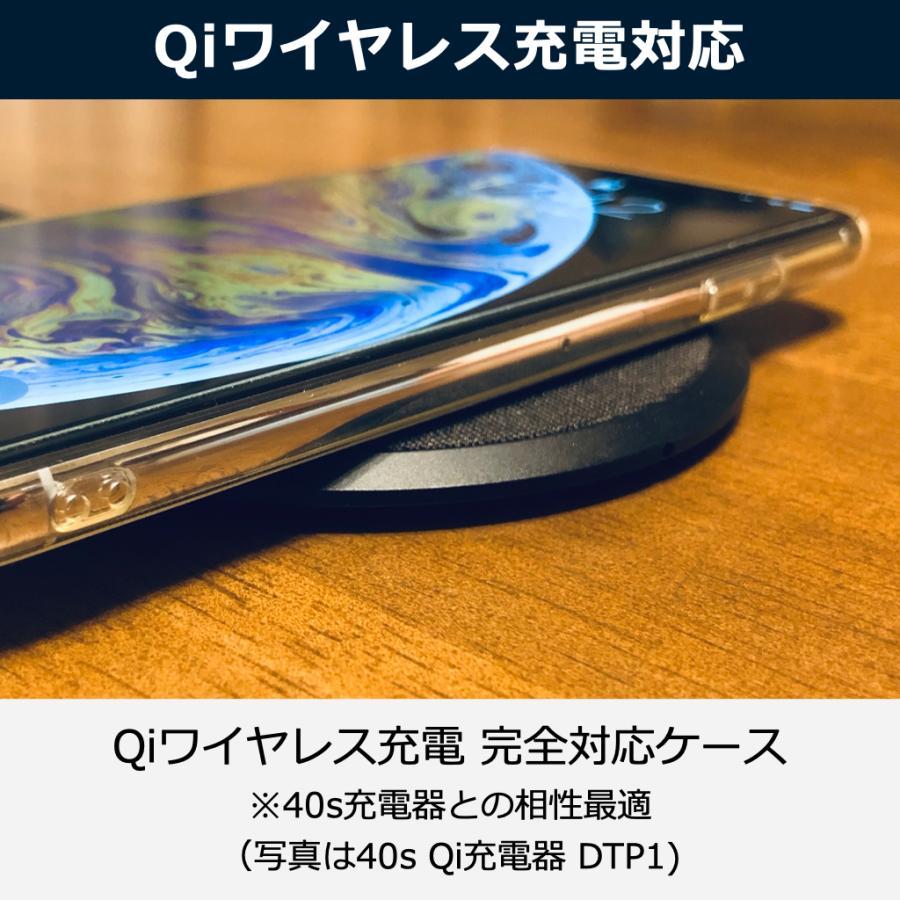 iPhoneケース XS XR XSmax クリアケース 透明 ケース クリア カバー 薄型 耐衝撃 軽量 TPU Qi ワイヤレス充電対応 ストラップ ポイント消化 送料無 40s forties 04
