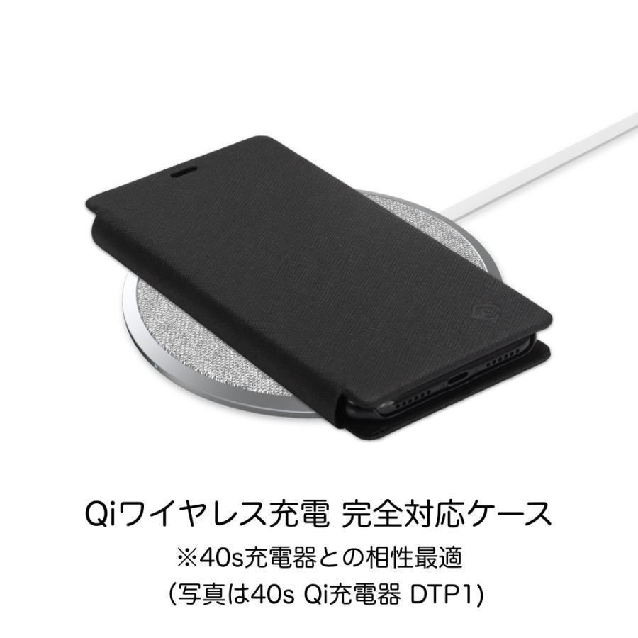 iPhone XS ケース 手帳型 iPhoneXS 耐衝撃 スタンド機能 薄型 カード収納 Qi ワイヤレス充電対応ケース おしゃれ ポイント消化 送料無 40s|forties|14