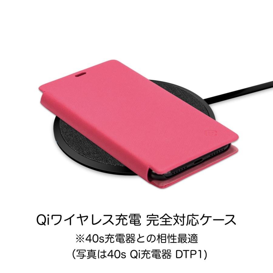 iPhone XS ケース 手帳型 iPhoneXS 耐衝撃 スタンド機能 薄型 カード収納 Qi ワイヤレス充電対応ケース おしゃれ ポイント消化 送料無 40s|forties|16