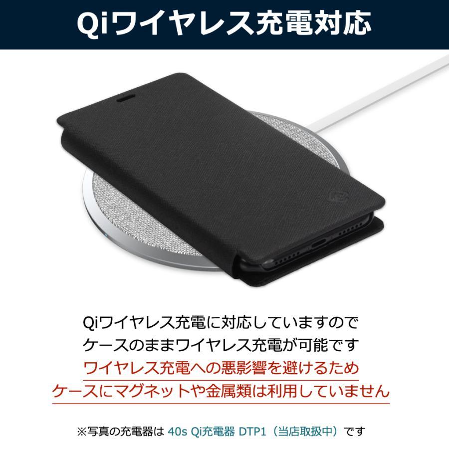 iPhone XS ケース 手帳型 iPhoneXS 耐衝撃 スタンド機能 薄型 カード収納 Qi ワイヤレス充電対応ケース おしゃれ ポイント消化 送料無 40s|forties|06
