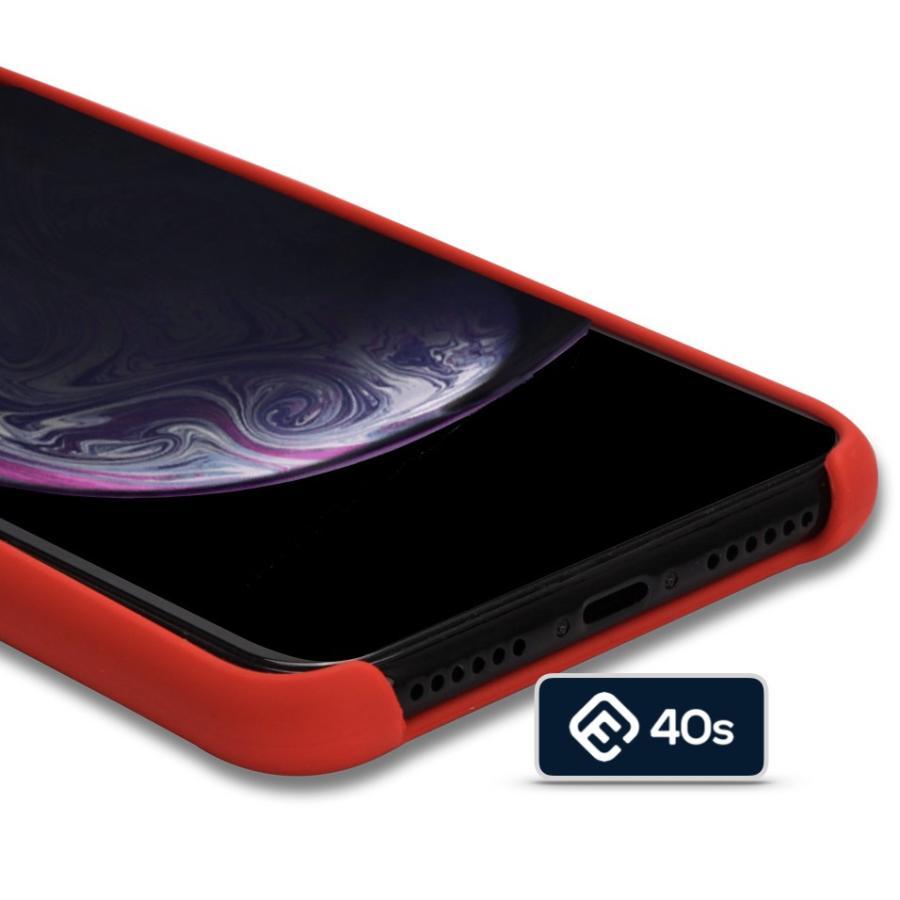 iPhoneケース XS XR X シリコン 衝撃 吸収 耐衝撃 薄型 軽量 ジャケット ワイヤレス充電対応 おしゃれ ポイント消化 iphone ケース 送料無 赤 黒 40s forties 14