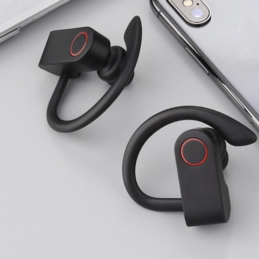 ワイヤレスイヤホン スポーツ Bluetooth5.0 ランニング 長時間再生 Hifi ステレオ 両耳 TWS イヤフォン 充電ケース Siri Android ブルートゥース JA91|forties|12