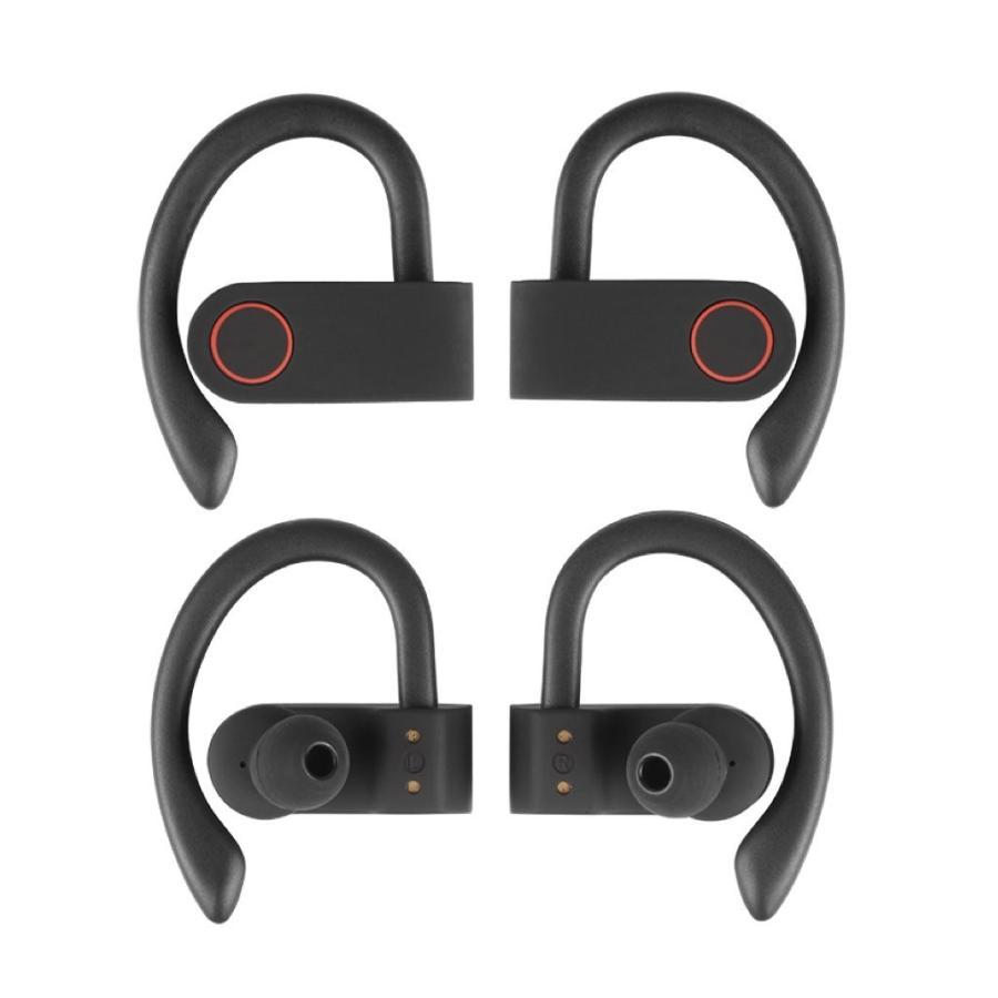 ワイヤレスイヤホン スポーツ Bluetooth5.0 ランニング 長時間再生 Hifi ステレオ 両耳 TWS イヤフォン 充電ケース Siri Android ブルートゥース JA91|forties|15