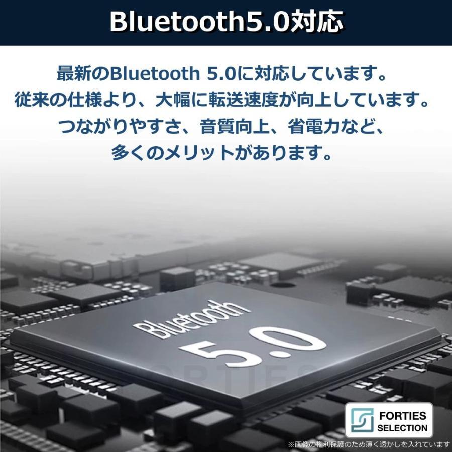 イヤホン iPhone ワイヤレス Bluetooth 5.0 ワイヤレスイヤホン ブルートゥース 両耳 アンドロイド 小型 長時間再生 コンパクト イヤフォン Siri Android TW40|forties|03