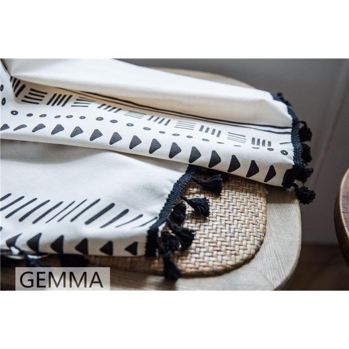 カーテン 綿麻 穴タイプ フック ボヘミア風 幾何 一体型カーテン リネン 和風 日系 新生活 部屋 洗える 完成品 カーテン|fortuna-gemma|17