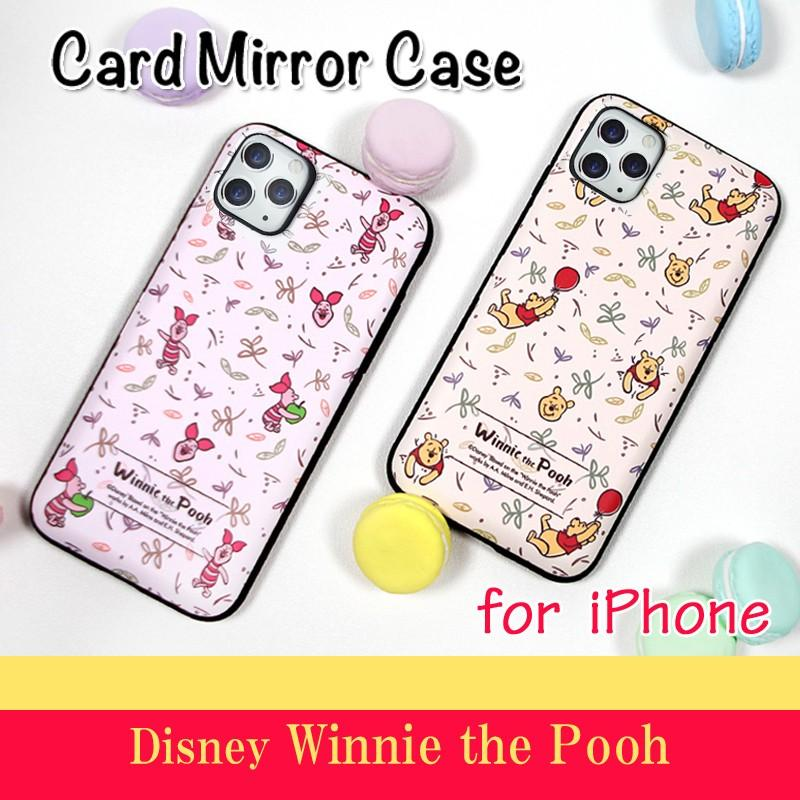 ab99b3ff2f iphone xs ケース くまのプーさん ピグレット pooh WINNIE THE POOH ディズニー カード収納ミラー ...