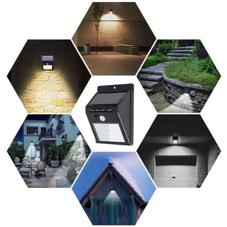 ソーラーライト 屋外 人感センサー おしゃれ 明るい 庭 ガーデン センサーライト 30 LED 防犯 玄関 ガーデンライト 外灯 防犯ライト 最強 家庭用 工事不要 外|four-piece|15