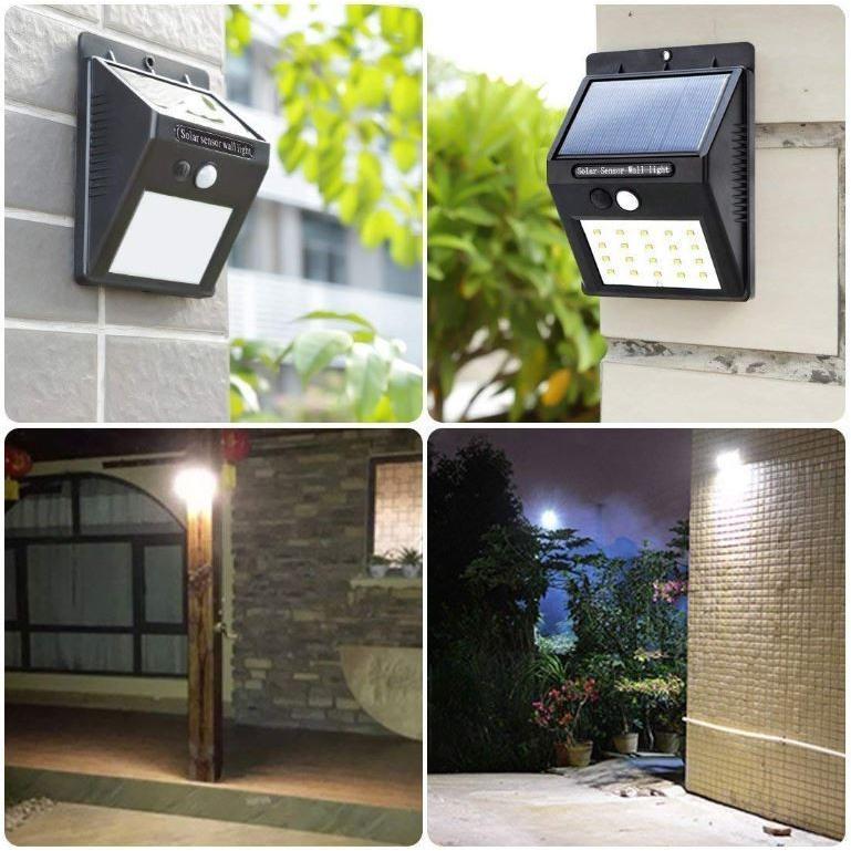 ソーラーライト 屋外 人感センサー おしゃれ 明るい 庭 ガーデン センサーライト 30 LED 防犯 玄関 ガーデンライト 外灯 防犯ライト 最強 家庭用 工事不要 外|four-piece|07