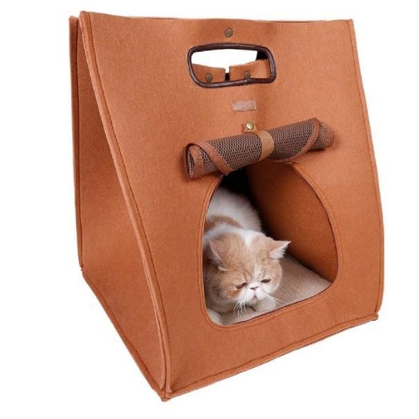 猫 キャリーバッグ 折りたたみ おしゃれ 大型 トート バッグ 軽量 ペットキャリーバッグ ペットハウス ペットケージ 猫ケージ 小型 中型 犬 ねこ|four-piece|13