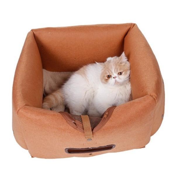 猫 キャリーバッグ 折りたたみ おしゃれ 大型 トート バッグ 軽量 ペットキャリーバッグ ペットハウス ペットケージ 猫ケージ 小型 中型 犬 ねこ|four-piece|14