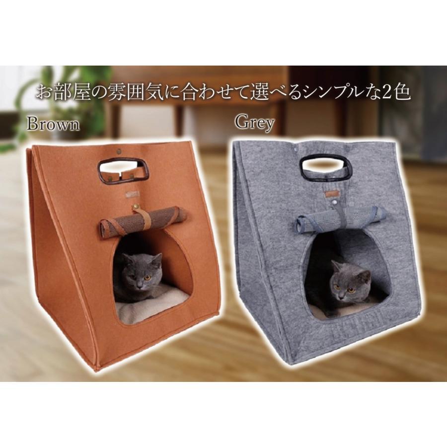 猫 キャリーバッグ 折りたたみ おしゃれ 大型 トート バッグ 軽量 ペットキャリーバッグ ペットハウス ペットケージ 猫ケージ 小型 中型 犬 ねこ|four-piece|05