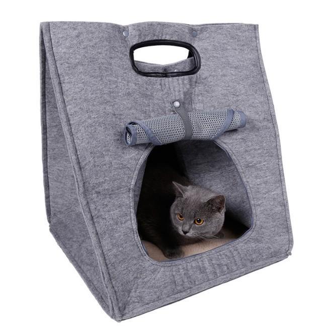 猫 キャリーバッグ 折りたたみ おしゃれ 大型 トート バッグ 軽量 ペットキャリーバッグ ペットハウス ペットケージ 猫ケージ 小型 中型 犬 ねこ|four-piece|20