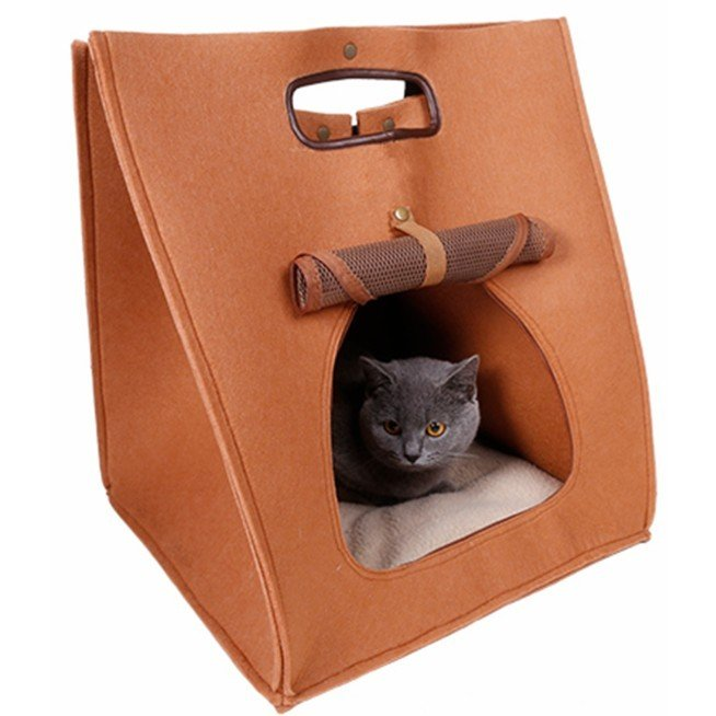 猫 キャリーバッグ 折りたたみ おしゃれ 大型 トート バッグ 軽量 ペットキャリーバッグ ペットハウス ペットケージ 猫ケージ 小型 中型 犬 ねこ|four-piece|21