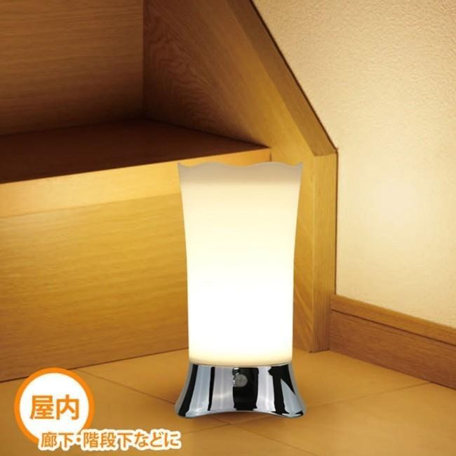 間接照明 センサーライト 屋内 屋外 おしゃれ インテリア LED フットライト 人感センサー おしゃれ 電池式 明るい 室内 玄関 寝室 廊下 階段 ナイトライト|four-piece|02