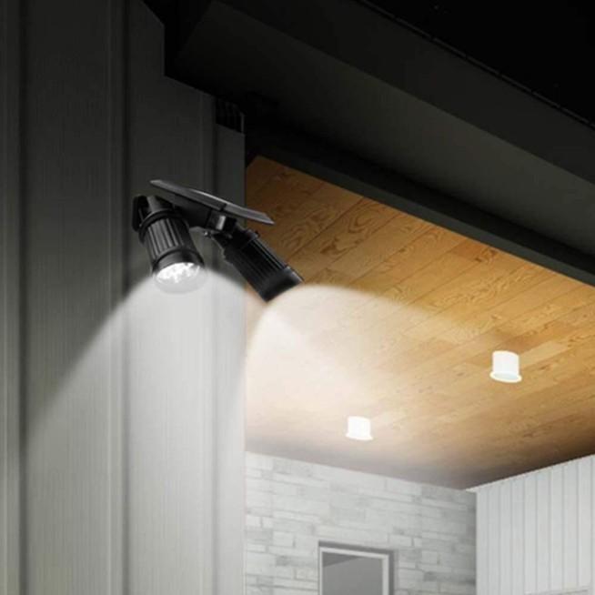 ソーラーライト 屋外 人感センサー LED 明るい おしゃれ 防水 センサーライト 玄関 防犯 ライト 外灯|four-piece|17
