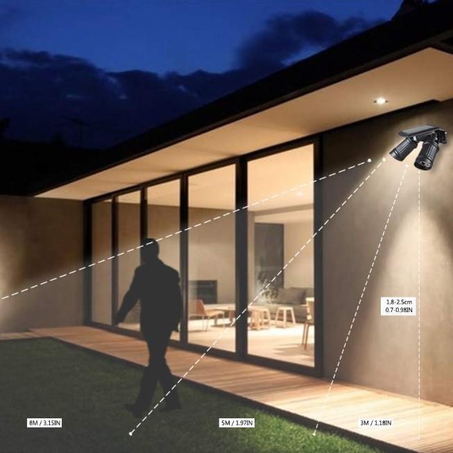 ソーラーライト 屋外 人感センサー LED 明るい おしゃれ 防水 センサーライト 玄関 防犯 ライト 外灯|four-piece|07