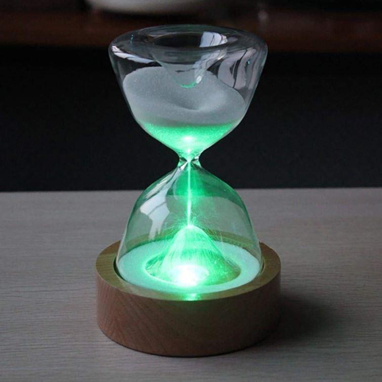 インテリア おしゃれ ライト 砂時計 15分 間接照明 寝室 リビング LED 調光 北欧 ナイトライト USB充電 コンセント不要 テーブルランプ ギフト プレゼント|four-piece|12