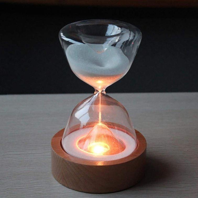 インテリア おしゃれ ライト 砂時計 15分 間接照明 寝室 リビング LED 調光 北欧 ナイトライト USB充電 コンセント不要 テーブルランプ ギフト プレゼント|four-piece|13