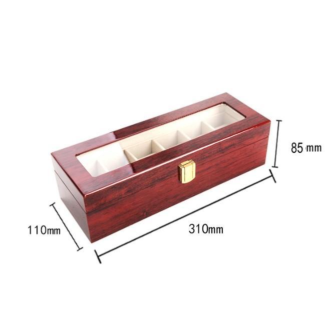 腕時計ケース おしゃれ 木製 6本 高級 時計ケース 腕時計 収納 保管 ディスプレイ 携帯 腕時計保管ケース 保管箱 保管庫 ディスプレイスタンド 透明|four-piece|05