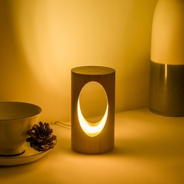 デスクライト LED 北欧 USB充電 ミニ 調光 円形 コンパクト テーブルランプ おしゃれ 間接照明 卓上 木 かわいい ベッドサイドランプ 和風スタンド|four-piece|11
