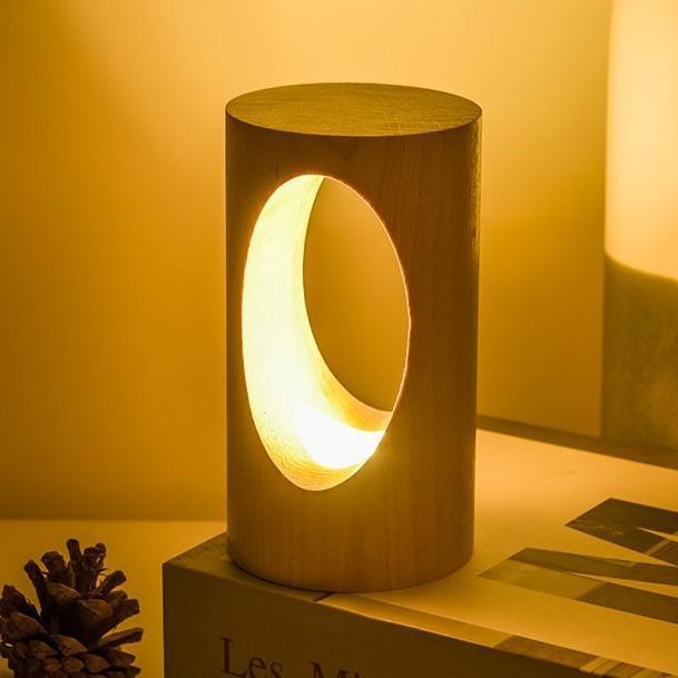 デスクライト LED 北欧 USB充電 ミニ 調光 円形 コンパクト テーブルランプ おしゃれ 間接照明 卓上 木 かわいい ベッドサイドランプ 和風スタンド|four-piece|12