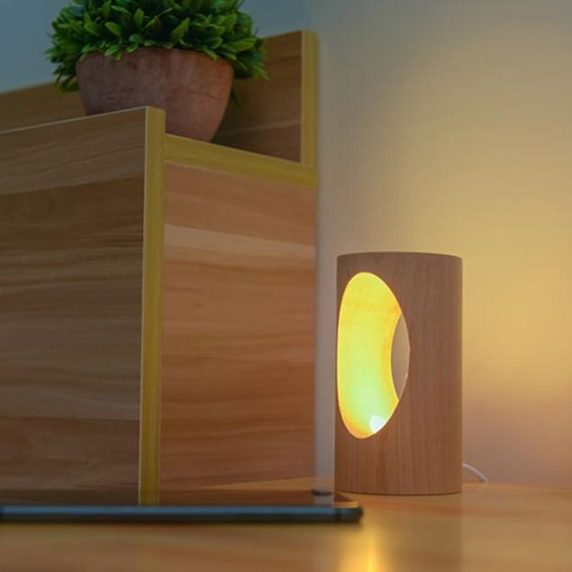 デスクライト LED 北欧 USB充電 ミニ 調光 円形 コンパクト テーブルランプ おしゃれ 間接照明 卓上 木 かわいい ベッドサイドランプ 和風スタンド|four-piece|14