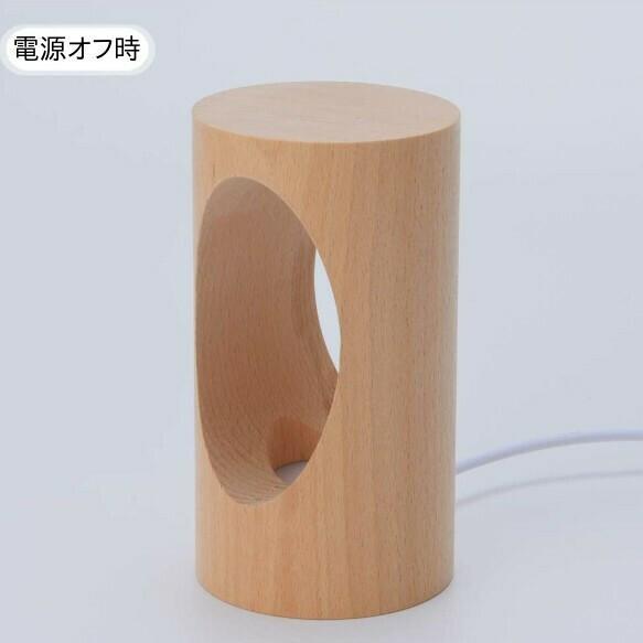 デスクライト LED 北欧 USB充電 ミニ 調光 円形 コンパクト テーブルランプ おしゃれ 間接照明 卓上 木 かわいい ベッドサイドランプ 和風スタンド|four-piece|08