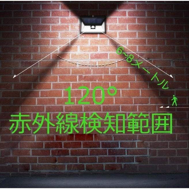 センサーライト 屋外 LED ソーラー 防犯 玄関 32 ソーラーライト 人感センサー おしゃれ 明るい 庭 ガーデン ガーデンライト 外灯 防犯ライト 家庭用 工事不要|four-piece|12
