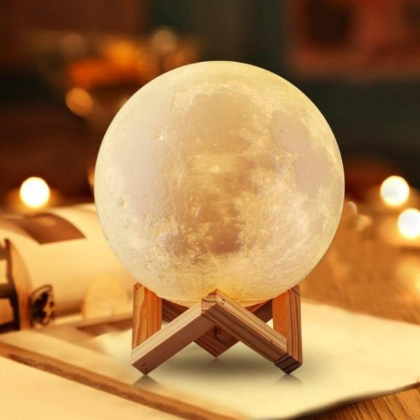 間接照明 おしゃれ LED 寝室 リビング テーブルランプ 北欧 調光 ベッドサイドランプ 月 ライト インテリアライト 月のランプ Mサイズ|four-piece|05