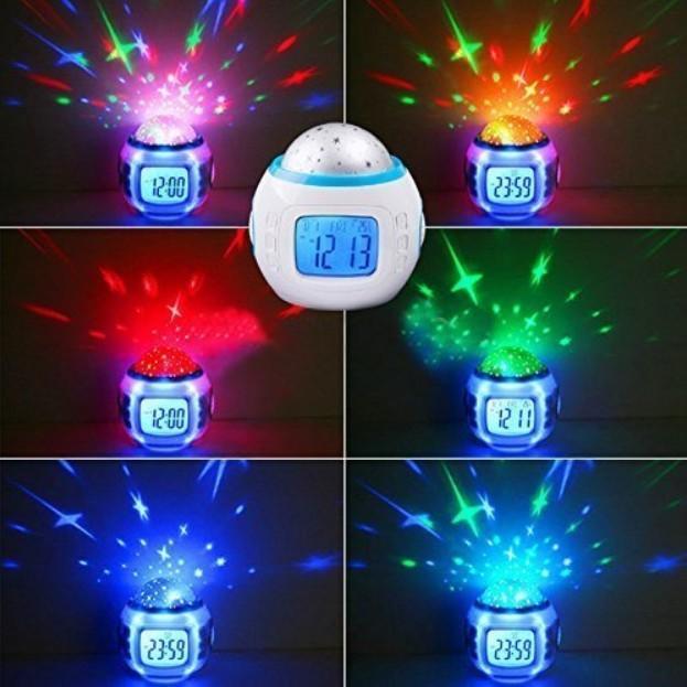 目覚まし時計 おしゃれ 大音量 子供 光 置時計 温度計 デジタル プラネタリウム 投影 時計 オルゴール 4way|four-piece|14