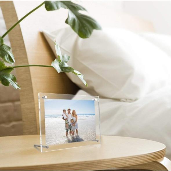 フォトフレーム おしゃれ A4 アクリル スタンド クリア 結婚 出産 誕生日 写真|four-piece|11