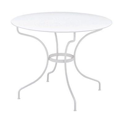 オペラテーブル96 01ホワイト ガーデンファニチャー フェルモブ