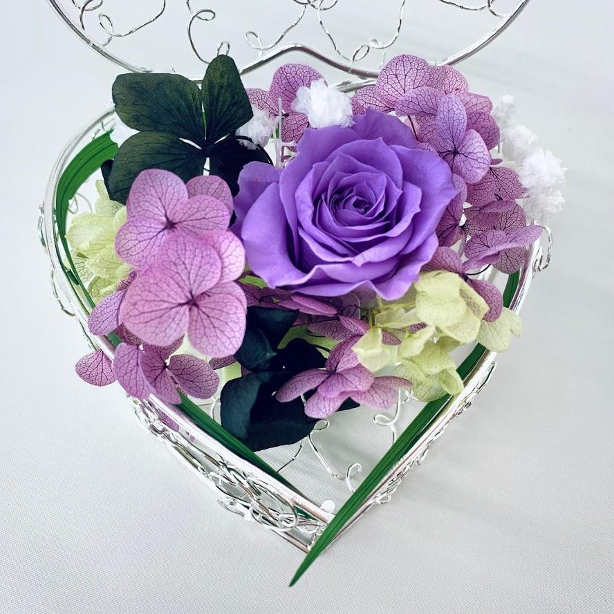 高級プリザーブドローズ「Violet heart」 fran-frower-arrange