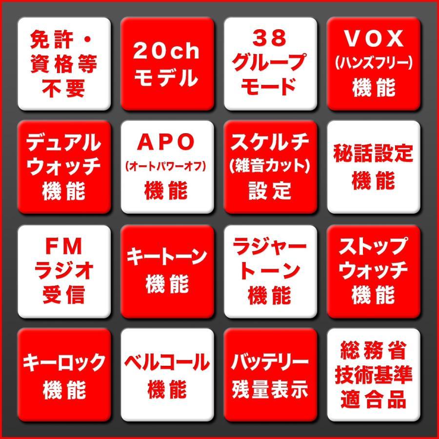 【免許・資格不要】特定小電力トランシーバー 2台組 NX-20X【イヤホンマイク・ベルトクリップ・バッテリー・充電ケーブル付】 frc-net 04