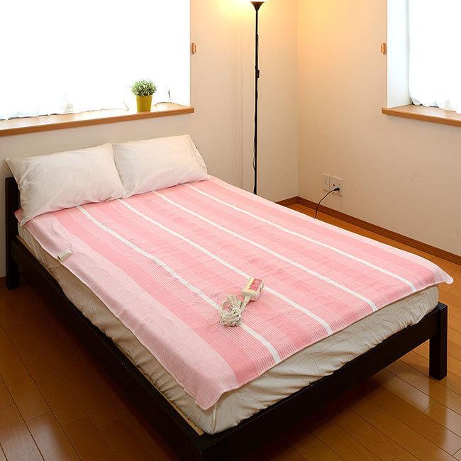 【圧倒的なコスパ】 電気毛布 掛け敷き 選べる2色 洗える 省エネ ダニ退治 188×130cm ピンク グレー|frdm|13