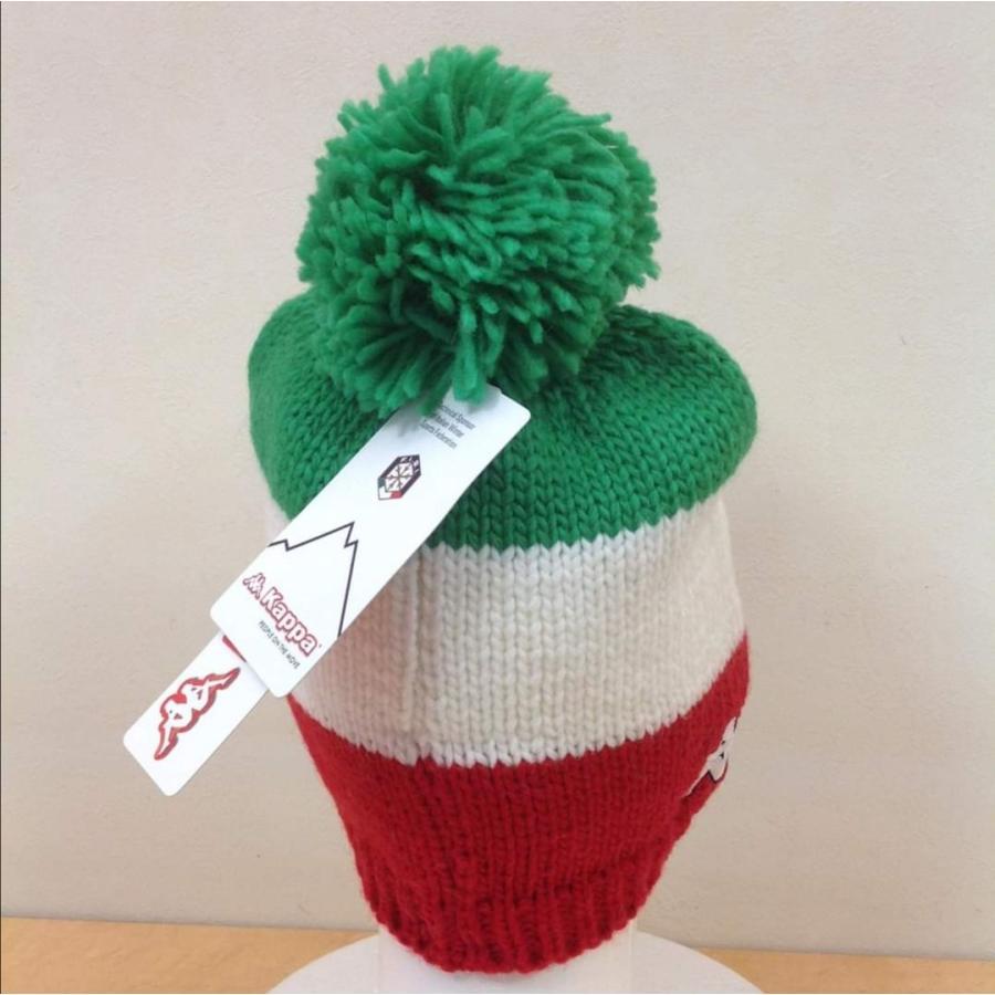 カッパ Kappa FISI イタリア代表 ニット帽 ボンボン スキー スノーボード ウェア|freak-10|02