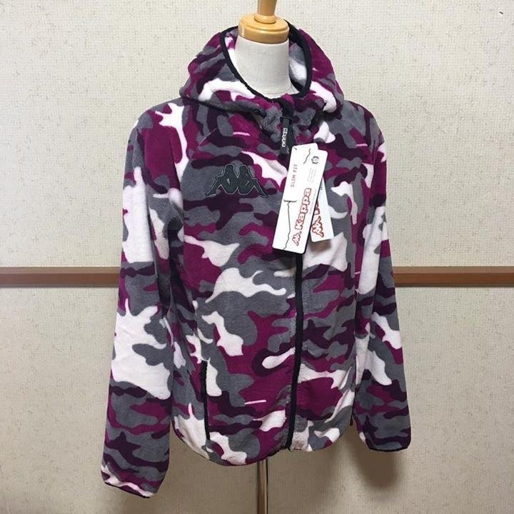 カッパ Kappa フリースジャケット フード付き 迷彩柄 freak-10