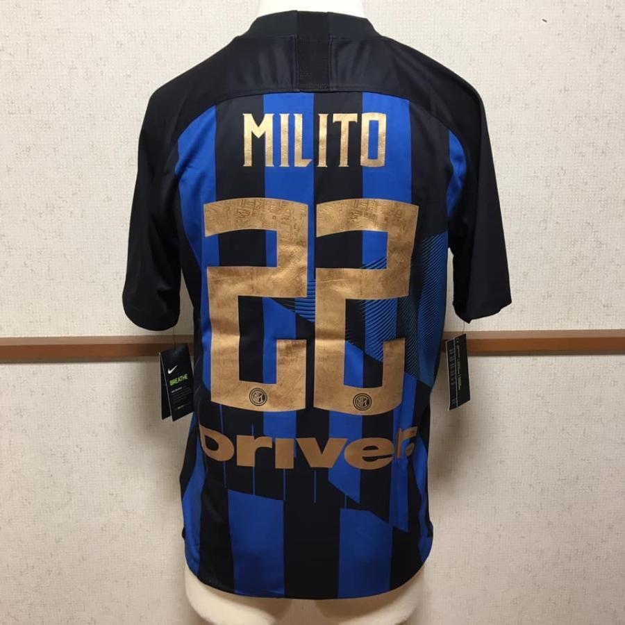 ナイキ NIKE サッカー ユニフォーム レプリカ インテル・ミラノ 20周年記念 リミテッド 背番号22 MILITO ミリート