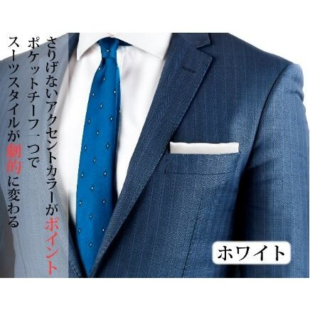ポケットチーフ 結婚式 シルク100% スーツ ホルダー&折り方ガイド付き|freate|04