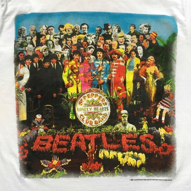 Mens Sgt Peppers Characters T-Shirt The Beatles