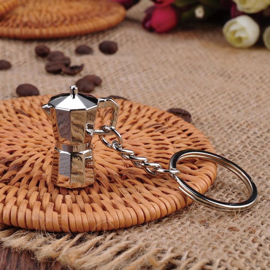 コーヒー アクセサリー 道具 キーホルダー コーヒーキーチェーン エスプレッソメーカー|freebirdcorp|02