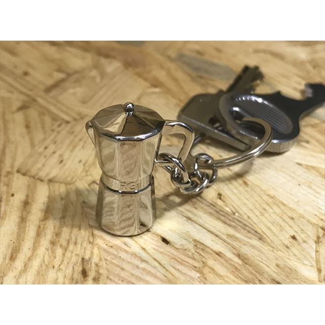 コーヒー アクセサリー 道具 キーホルダー コーヒーキーチェーン エスプレッソメーカー|freebirdcorp|03