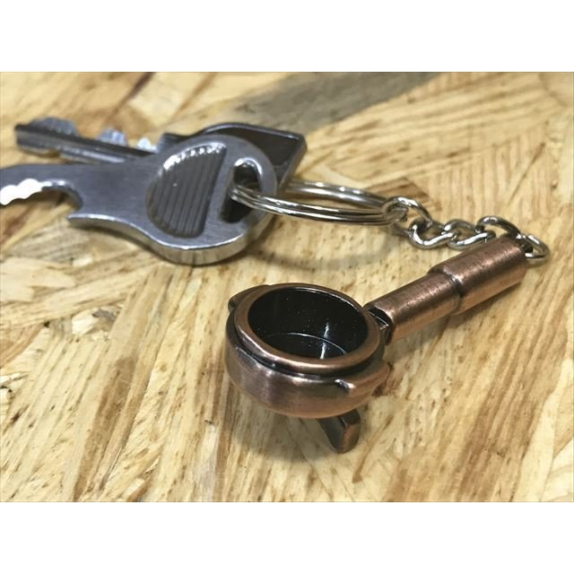 コーヒー アクセサリー 道具 キーホルダー コーヒーキーチェーン ポルタフィルター|freebirdcorp|02