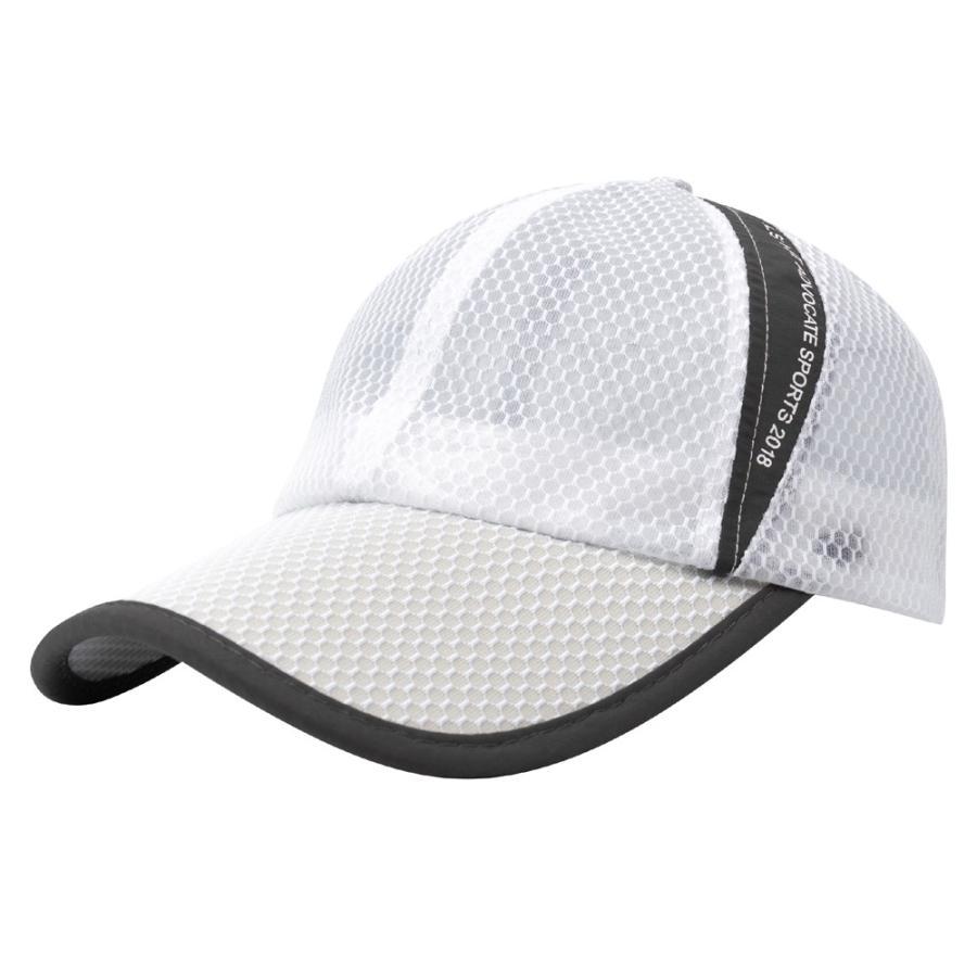 メッシュキャップ 帽子 キャップ ランニング ウォーキング ジョギング マラソン スポーツ UVカット 夏用 メンズ レディース フリーサイズ 10色|freeduck2|11