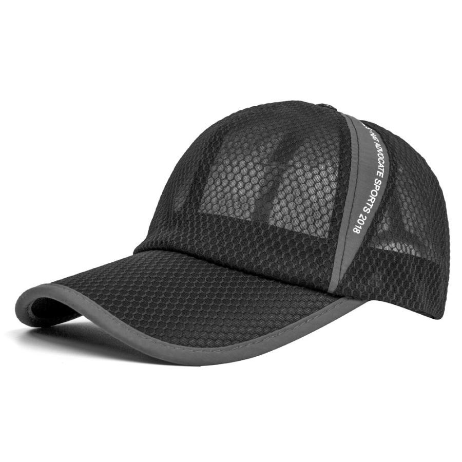 メッシュキャップ 帽子 キャップ ランニング ウォーキング ジョギング マラソン スポーツ UVカット 夏用 メンズ レディース フリーサイズ 10色|freeduck2|12