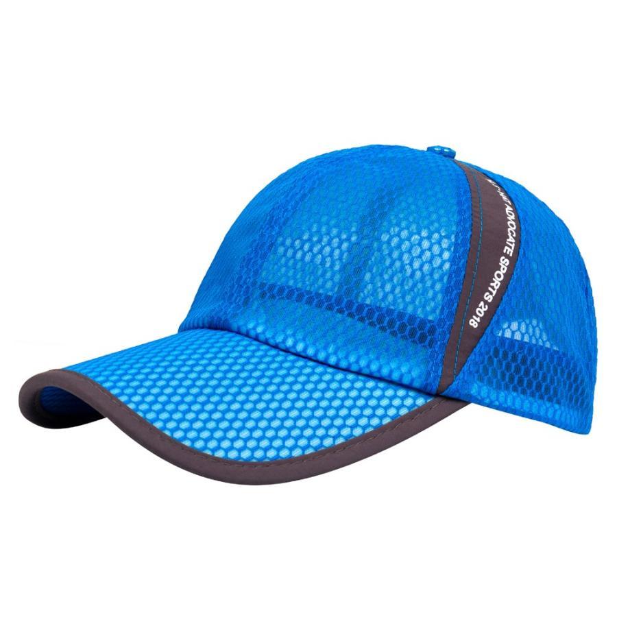 メッシュキャップ 帽子 キャップ ランニング ウォーキング ジョギング マラソン スポーツ UVカット 夏用 メンズ レディース フリーサイズ 10色|freeduck2|15