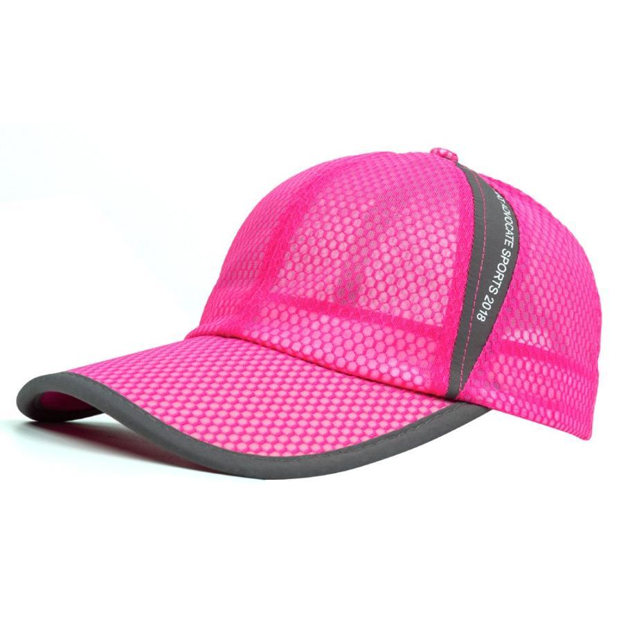 メッシュキャップ 帽子 キャップ ランニング ウォーキング ジョギング マラソン スポーツ UVカット 夏用 メンズ レディース フリーサイズ 10色|freeduck2|19